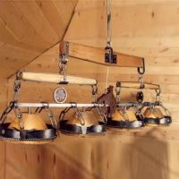 western style light fixtures   Bozeman Trail Pool Table ...
