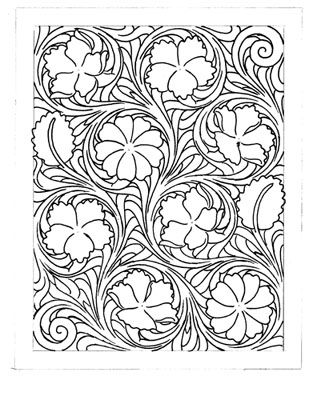 Leather carving, Carving and Leather tooling patterns on