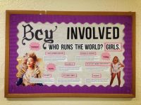 Beyonce themed bulletin board