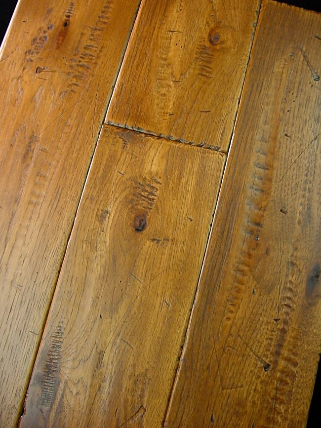 Hickory Prefinished Hand Scraped  Distressed Hardwood