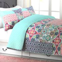 CYNTHIA ROWLEY PATCHWORK QUEEN QUILT 3pc SET POLKA DOT ...