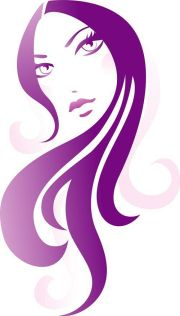 girl with long hair illustration