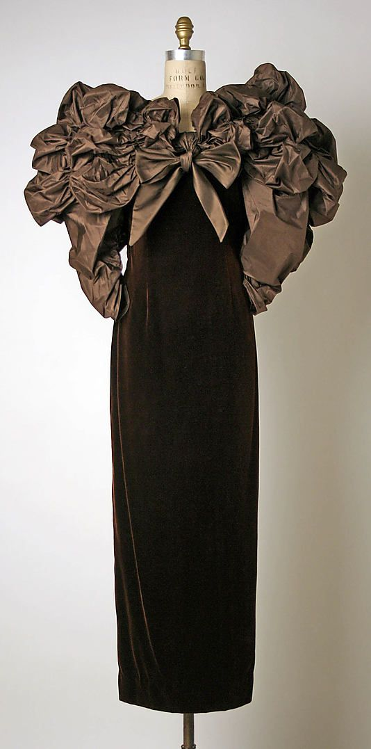 Dress, Evening Bill Blass Ltd.  (American, founded 1970)  Designer: Bill Blass (American, 1922–2002) Date: ca. 1988: