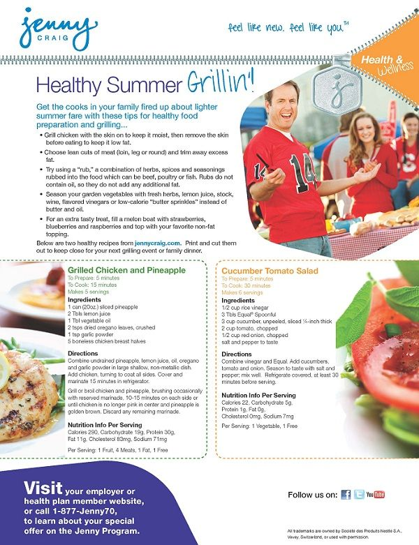 Healthy Grilling Tips From Jenny Craig Cook In San