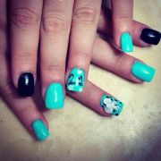 21st birthday nails design