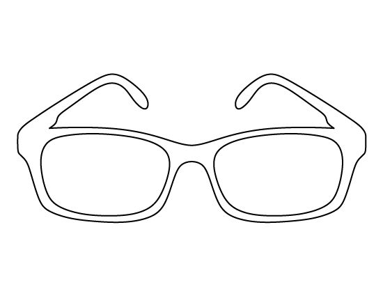 Glasses pattern. Use the printable outline for crafts
