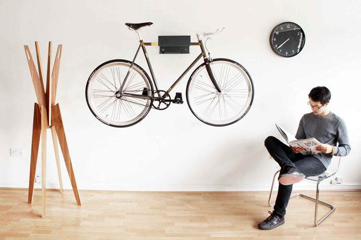 DESIGN^touch | Visual cue with a nod to decor + a sight to get body activity outdoors. Cyclehoop bike rack