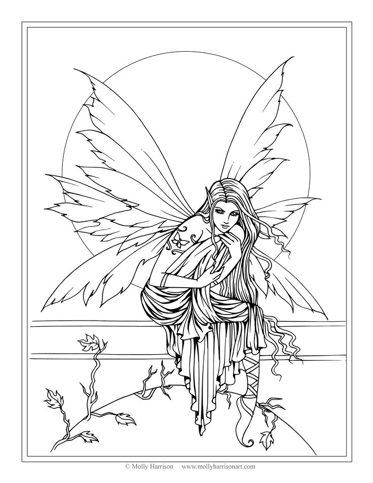 Broken Fairy Wings Coloring Pages