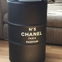 Black Barrel Chair Cream Leather Office Diy / Upcycling An Old Oil Drum /barrel Chanel Design And White Minimal Industrial ...