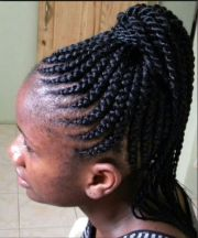 updo - cornrows ponytail hair
