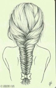 fish tail braid drawing