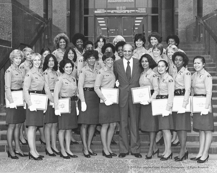The women of Class 190 with Sheriff Peter J Pitchess