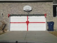make your garage door a giant present at Christmas time ...
