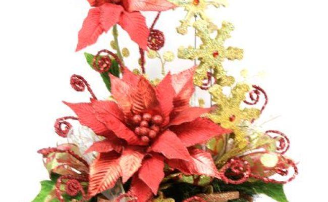 Arreglo Nochebuena Fina Rojo Como Hacer Manualidades