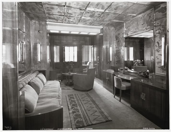 SS Normandie Stateroom 65 with Private Veranda
