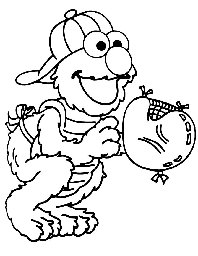 17 Best Images About Elmo Coloring Pages