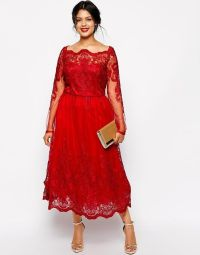 Stunning Red Plus Size Evening Dresses Sleeves Square ...
