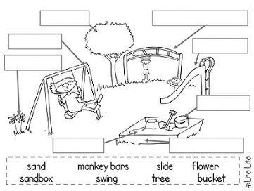 All Worksheets » Playground Worksheets For Kids