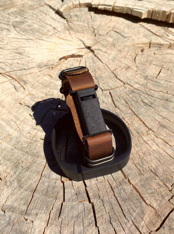 Leather Fitbit Flex Band With Minimalist Case For Men Or