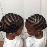 creative curving cornrows hair