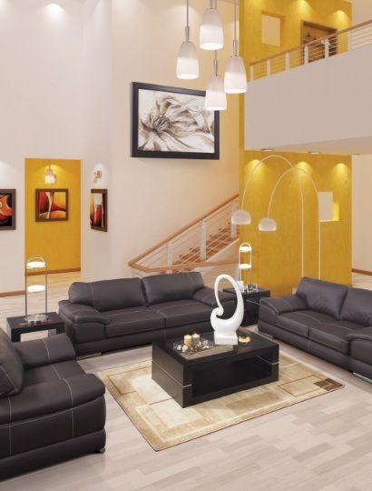 El amarillo puede ser una opcin para contrastar colores oscuros en tu sala o comedor  Tendencias 2011  Pinterest