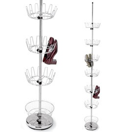 Floor-to-ceiling Shoe Tree Turn a corner into storage for