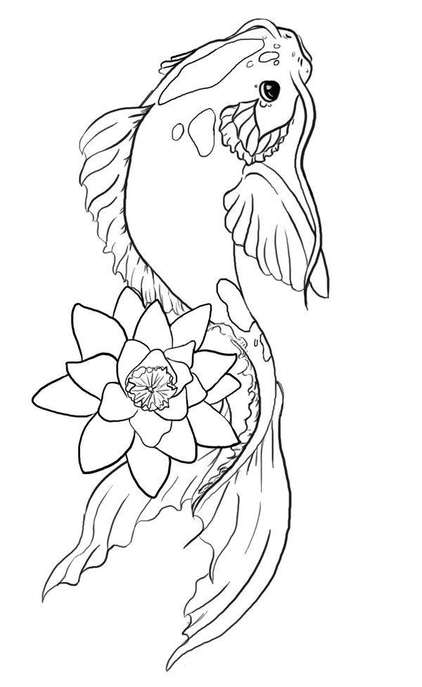Koi Fish Drawings For Kids
