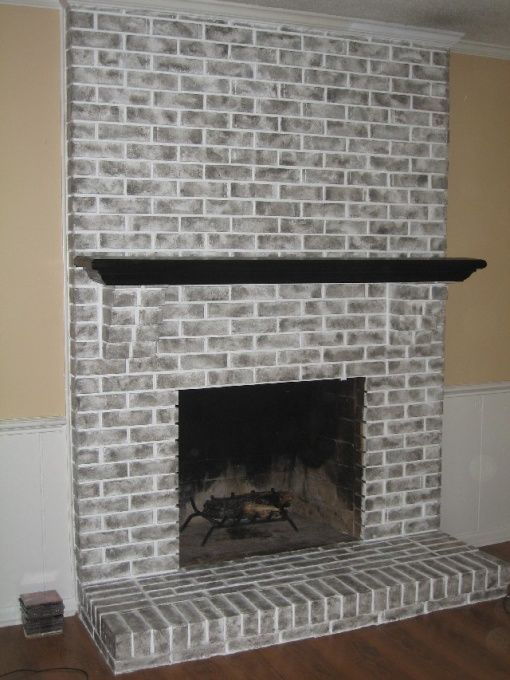 Fireplace Brick Paint Colors Brick Fireplace , Brick Fireplace Had Been Painted