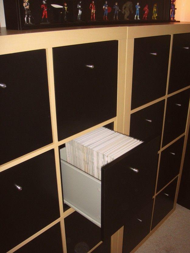 Comic Book Storage Ikea Shelving and drawers  Gaming