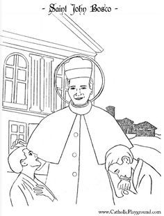 1000+ images about Saint Coloring Pages on Pinterest