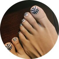 25+ best ideas about Tribal toe nails on Pinterest