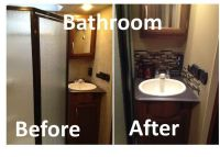 RV Remodel: Bathroom remodel, peel and stick tiles | toy ...