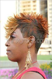 faux hawk hairstyle black women