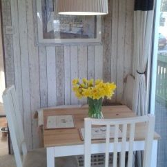 Small Living Room With Kitchen Ideas Bohemian Style Dining Makeover In Our Static Caravan | Glamping ...