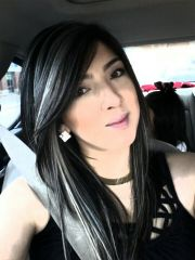 platinum highlights dark hair