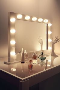 High Gloss White Hollywood Makeup Dressing Room Mirror ...