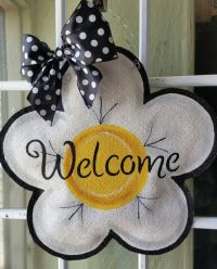 1000+ ideas about Burlap Door Hangers on Pinterest ...