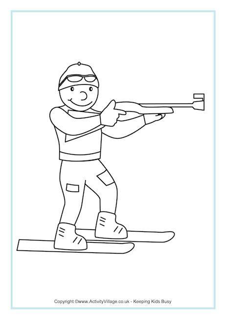 55 best images about Winterspelen Kleurplaten on Pinterest