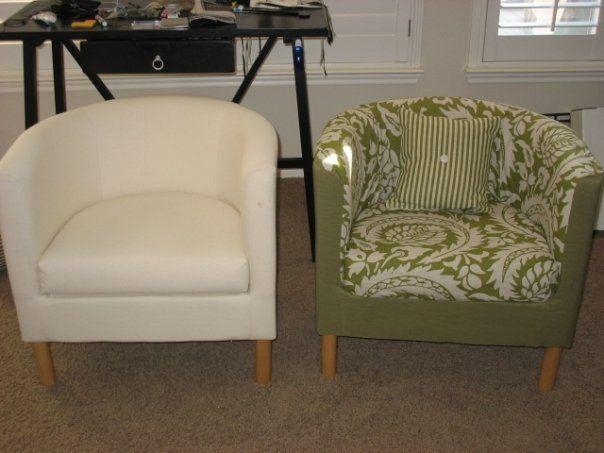 Upholstered Ikea chair  tullsta  living room  Pinterest