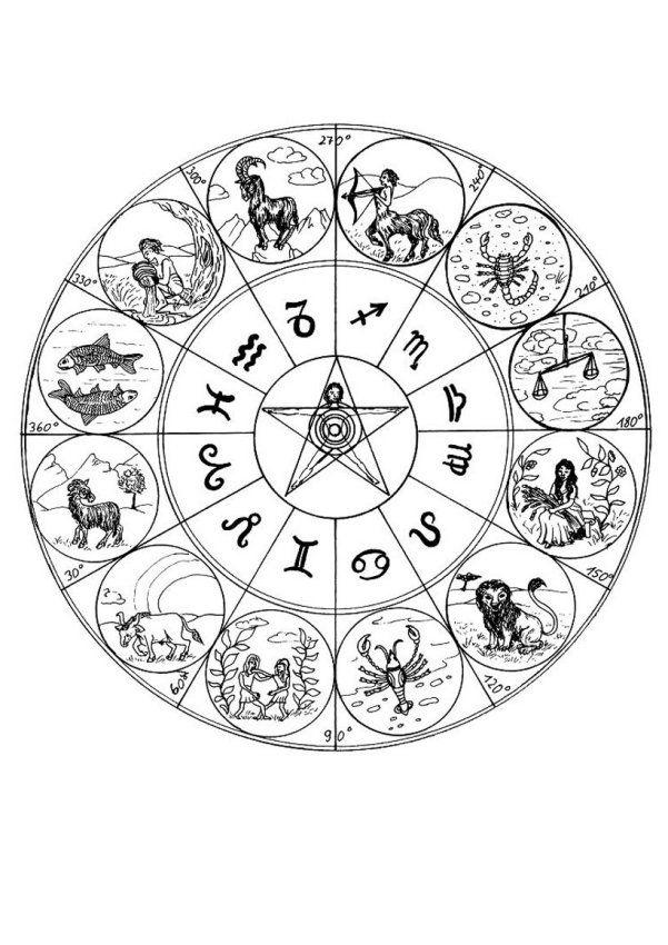 STCI, coloriage pour adultes et enfants mandalas * Zodiac