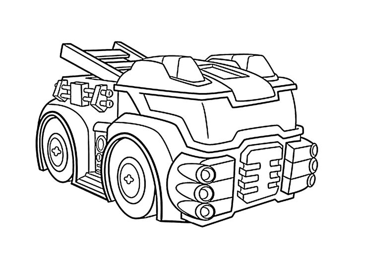 Heatwave the fire bot coloring pages for kids, printable