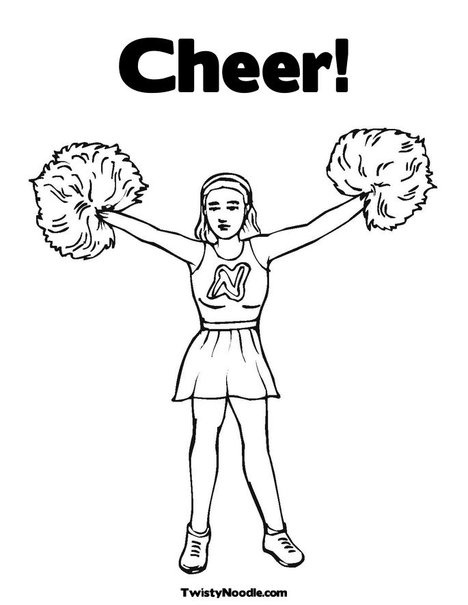 20 best images about cheerleading coloring pages on Pinterest