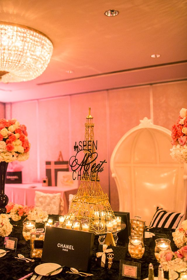 CoCo Chanel Theme Inspired Centerpiece Center Of