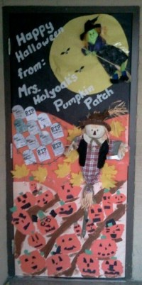 The Halloween door I did last year for my daughter's ...