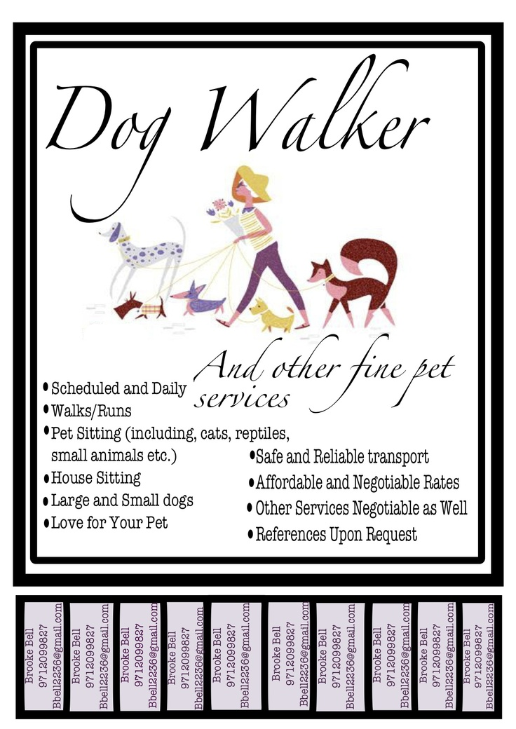 dog walking poster ideas
