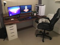 25+ great ideas about Ikea Gaming Desk on Pinterest