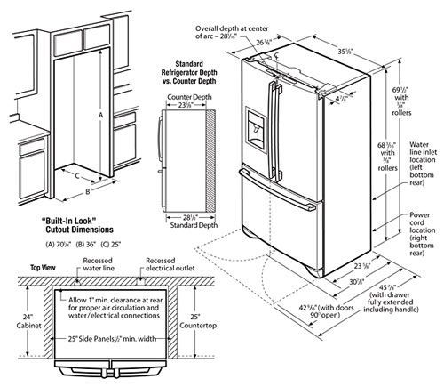 25+ best ideas about Refrigerator dimensions on Pinterest