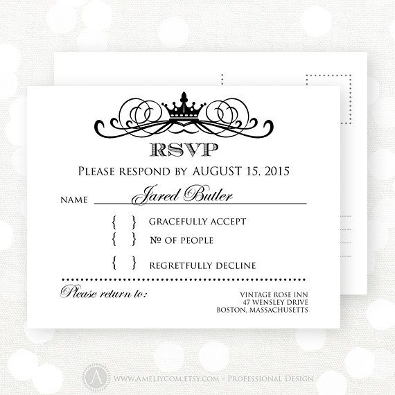 Best 25+ Wedding reply cards ideas on Pinterest