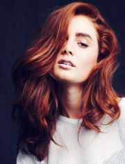 vibrant fiery auburn perfect hair