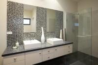 Metallic bathroom tile idea. Ensuite in the Hotondo Homes ...